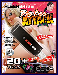 Big Ass Attack 4GB FleshDrive Porn DVD