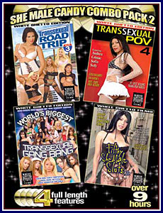 She Male Candy Combo Pack 2 Porn DVD