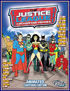 Justice League of Pornstar Heroes: Animated Cartoon Edition Porn DVD