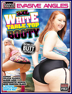 3XL White Table Top Booty Box Cover Art.