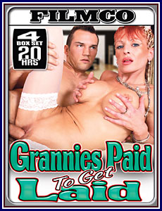Grannies Paid to Get Laid 20 Hrs 4-Pack Porn DVD