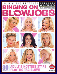 Binging On Blowjobs Box Cover Art.
