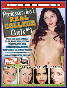 Professor Joe's Real College Girls Porn DVD