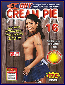 5 Guy Cream Pie 16 Porn DVD