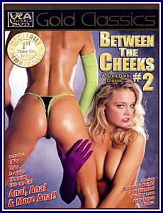 between the cheeks