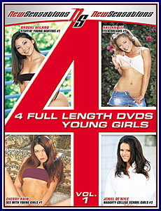 4 Full Length DVDs Young Girls Porn DVD