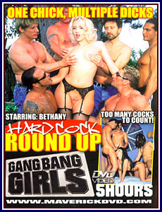 Gang Bang Girls - Hard Cock Round Up Porn DVD
