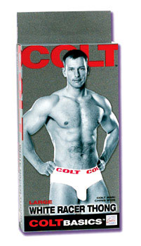 Colt Racer Thong Small - White