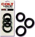 Colt 3 Ring Set - Black