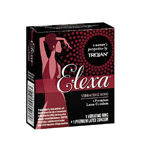 Trojan Elexa Vibrating Ring Plus One Condom