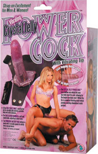 Crystal Jelly Power Cock - Lavender