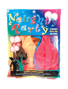 Boobie Balloons, Assorted Colors- 6 pack