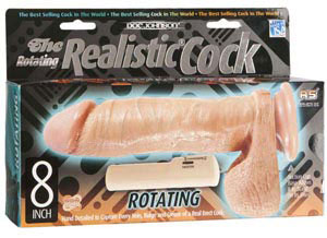 The Rotating Realistic Cock 8 inches