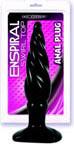 Enspiral Swirl Top Anal Plug - Black