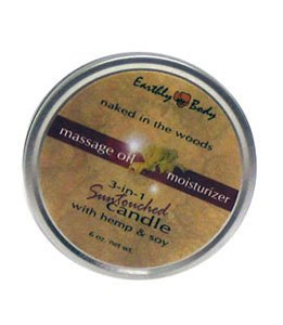 Earthly Body 3-In-1 Suntouched Candle 6 oz. - Naked In The Woods