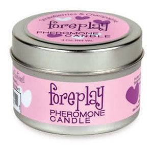 Foreplay Pheromone Candle 4 oz - Stawberries & Champagne