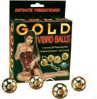 Gold Vibro Balls 4 pc. Set