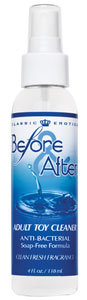 Before and After Anti-Bacterial Adult Toy Cleaner 4 oz