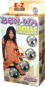 Ben-Wa Balls On A String - Silver