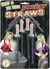 Glow In The Dark Pecker Straws 4 pc.