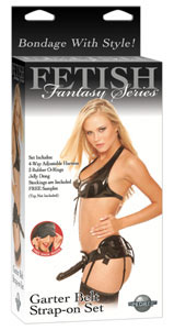 Fetish Fantasy Garter Belt Strap-On Set