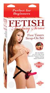 Fetish Fantasy First Timer Strap-On Set - Red