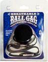 Breathable Ball Gag with Black Collar - Black