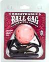 Breathable Ball Gag with Black Collar - Pink
