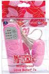 Marble Waterproof Love Bullet 7x - Light Pink