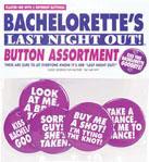 Bachelorette's Last Night Out Button Assortment 5 pk