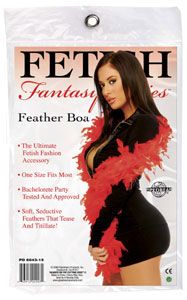 Fetish Fantasy Feather Boa - Red