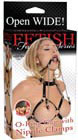 Fetish Fantasy O-Ring Gag with Nipple Clamps