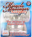 Miracle Massager Accessory Masturbation Clear