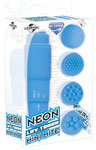 Neon Luv Touch Mini Mite Waterproof - 4 Interchangeable Heads Blue
