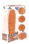 Neon Luv Touch Mini Mite Waterproof - 4 Interchangeable Heads Orange