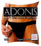 Adonis Men's Wet Look Zipper Pouch