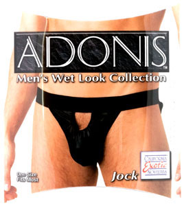 Adonis Men's Wet Look Jock