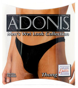 Adonis Men's Wet Look Thong