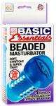 Basic Essentials Beaded Masturbator - Blue