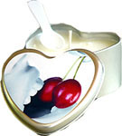 Cherry Edible Heart Candle 4 oz.