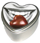 Chocolate Edible Heart Candle 4 oz.
