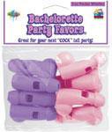 Bachelorette Party Pecker Whistles - Pink/Purple