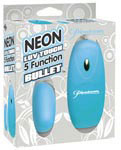Neon Luv Touch 5 Function Bullet - Blue