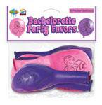 Bachelorette Party Pecker Balloons Pink/Purple 8pcs