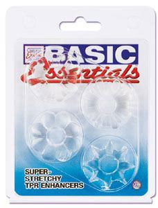 Basic Essentials Super Stretchy TPR Enhancers - Clear