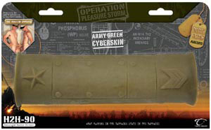 Dirk Yates H2H-90 Cockfight Double Stroker Army Green CyberSkin