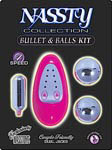 Nassty Collection Bullet and Balls Kit - Pink