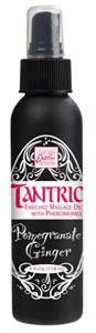 Tantric Enriched Massage Oil w/Pheromones Pomegranate Ginger