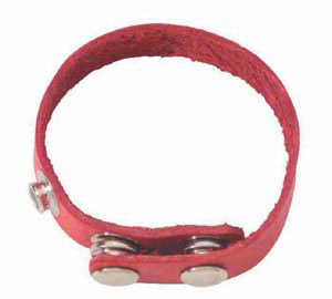 Basic Soft Red Leather Cockring