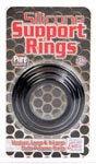 Silicone Support Rings - Black 3 Pac